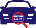 Licence Plate Recognition Icon